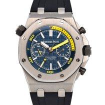Audemars Piguet Royal Oak Offshore Diver Chronograph Staal 42mm Blauw