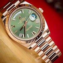 Rolex Day-Date 40 Oro rosado Verde