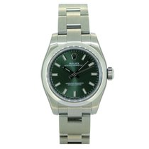 Rolex Oyster Perpetual 176200 Olive Green Dial 26mm
