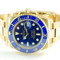 Rolex Submariner Date 18kt Yellow Gold Blue Dial/Bezel - 116618
