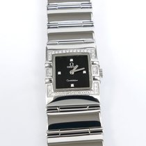 Omega Constellation Quadra Black Dial 42 Diamonds