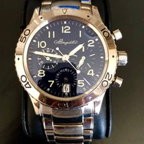 Breguet White gold Automatic Blue Arabic numerals 39mm pre-owned Type XX - XXI - XXII