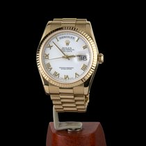 Rolex Day-Date 36 Oro amarillo 36mm Blanco Romanos España, Madrid