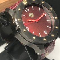 "Ennebi Custom ""Lucky 13"" Burgundy Dial Titanium 1000m Diver..."