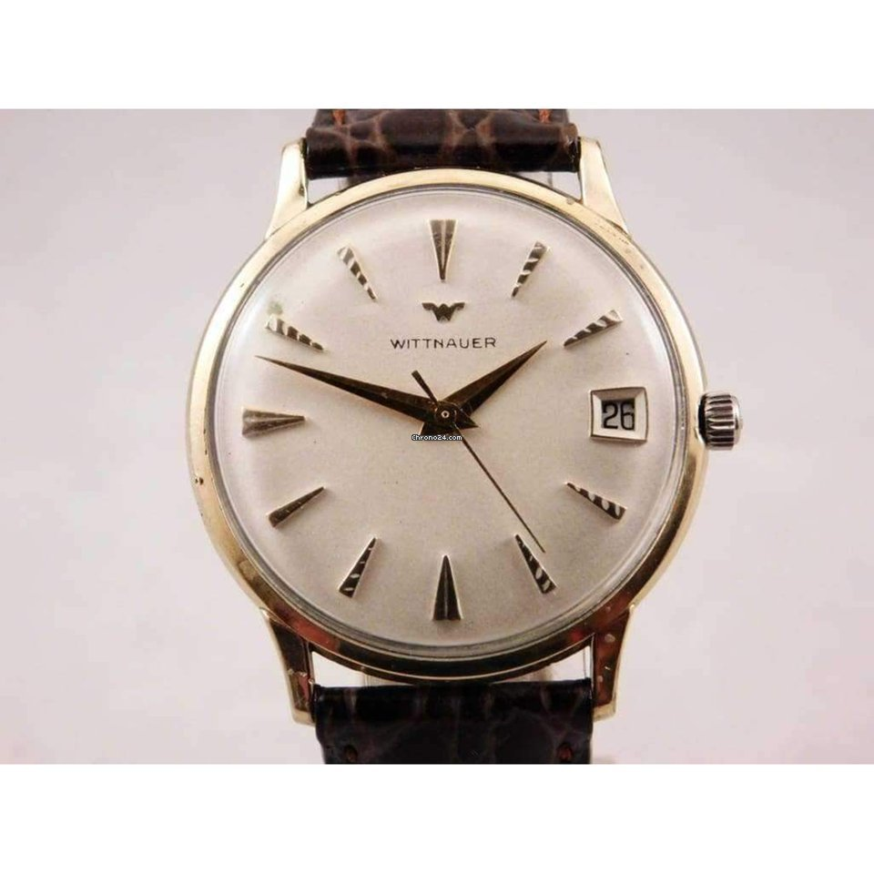 Wittnauer Watch Value >> Wittnauer Vintage Ivory Dial Manual Wind Pre Owned Mens Watch 34mm