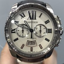 Cartier Calibre de Cartier Chronograph Steel 42mm Silver Roman numerals United States of America, New York, New York