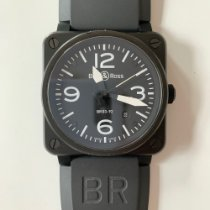 Bell & Ross pre-owned Automatic 42mm Black Sapphire Glass 10 ATM