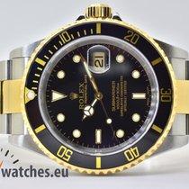 Rolex Submariner Date Gold/Stahl 40mm Schwarz Keine Ziffern Deutschland, Iffezheim