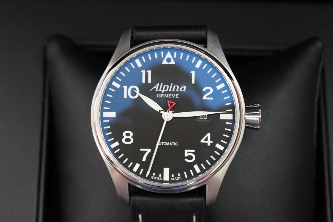 Alpina Startimer Pilot Mm Leder Und Stahlband Sold On Chrono - Alpina startimer