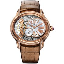 Audemars Piguet Rose gold Manual winding Mother of pearl Roman numerals 39.5mm new Millenary Ladies