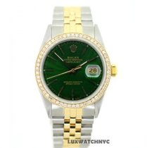 Rolex Datejust Men's 36mm Green Dial Stainless Steel And...