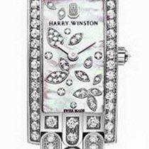 Harry Winston Avenue Mini Lily Cluster 18k White Gold Diamonds...
