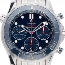 Omega Seamaster Diver 300m Co-Axial Chronograph Stahl Automati...