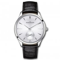 Jaeger-LeCoultre Q1278420, Master, Silver Dial, Steel and Leather
