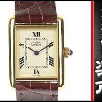 カルティエ (Cartier) Must Tank Mm Quartz Wrist Watch White Dial Brown