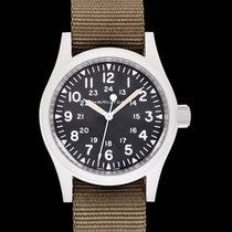 Hamilton Khaki Field Mechanical Black Steel/Textile 38mm -...
