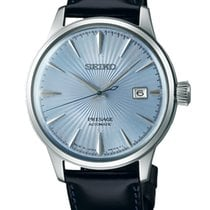Seiko PRESAGE Cocktail Auto 3 spheres/data Blue  Dial/Leather