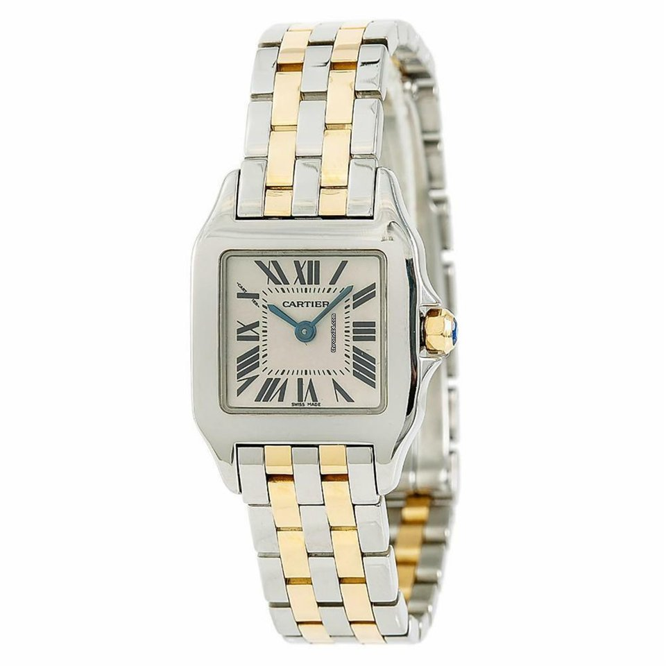 d38bb008d41a Cartier Santos Demoiselle 2698 W25066z6 Womens Quartz Watch Two Tone 20mm