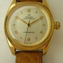 Rolex Bubble Back pre-owned 31mm Yellow gold