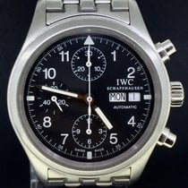 IWC Pilot Chronograph Full Steel Black Dial 39MM Day-Date 2002