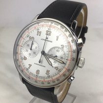 Junghans Meister Telemeter pre-owned 40,8mm Silver Chronograph Leather