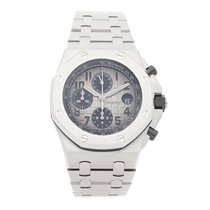 愛彼 Royal Oak Offshore Chronograph 鉑 42mm 灰色 阿拉伯數字