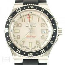 Breitling Superocean GMT Acero 42mm Blanco