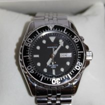 Seiko Kinetic Steel 45mm Black No numerals