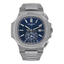 Patek Philippe Nautilus White gold 49.25mm Blue No numerals