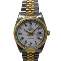 Rolex Oyster Perpetual Date Ref. 15053 Steel Gold White dial