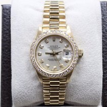 Rolex Ladies President 69138 Crown Collection Original Diamond...