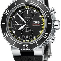 Oris Aquis Depth Gauge 774 7708 4154-SET RS new