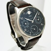 IWC Portuguese Perpetual Calendar Or blanc 42.3mm Gris Arabes France, Paris