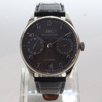 IWC IW500106 White gold Portuguese Automatic 42.3mm pre-owned