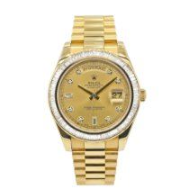 Rolex Day-Date II pre-owned 41mm Champagne Yellow gold