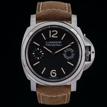 Panerai Luminor Marina 8 Days Сталь 44mm Чёрный Aрабские