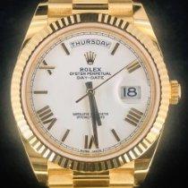 Rolex Day-Date 40 Or jaune 40mm Blanc Romain