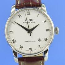 Mido Baroncelli II Acier 38mm Blanc