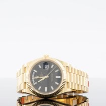 Rolex Day-Date 40 Yellow gold Black UAE, dubai