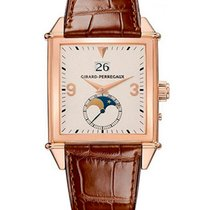 Girard Perregaux Rose gold Automatic Champagne pre-owned Vintage 1945