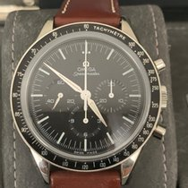 Omega Speedmaster Professional Moonwatch Сталь 39mm Чёрный Без цифр