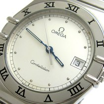 Omega Constellation Quartz Steel 32.5mm Silver No numerals