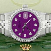 Rolex Datejust pre-owned 36mm Purple Date Steel