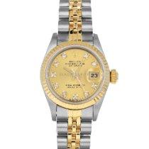 Rolex Lady-Datejust Gold/Stahl 26mm Champagnerfarben Keine Ziffern