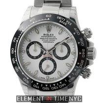 Rolex Daytona Ceramic Bezel Stainless Steel White Dial
