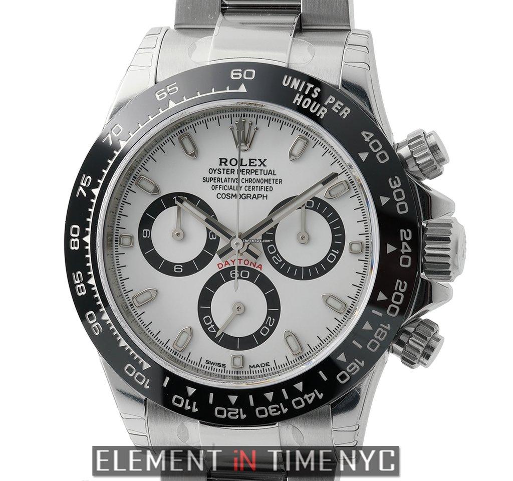 Rolex Daytona Ceramic Bezel Stainless Steel White Dial For Price On
