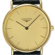 Longines Presence 18kt Gold Mens Luxury Swiss Quartz Strap...