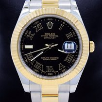 Rolex Datejust II 116333 Two Tone 18k Yellow Gold & Ss Black...