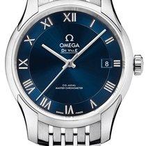 Omega De Ville Hour Vision Steel 41mm Blue Roman numerals