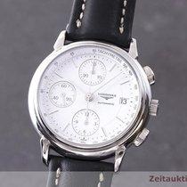 Longines Chronograph 38.5mm Automatik 2005 gebraucht La Grande Classique Silber